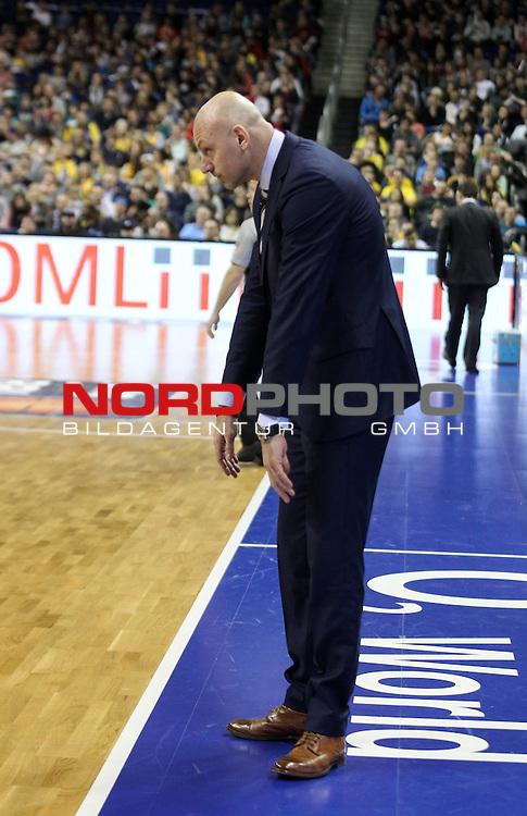 28.03.2015, O2 world, Berlin, GER, 1.BBL, ALBA Berlin vs. Bonn , im Bild Cheftrainer Sasa Obradovic (ALBA Berlin)<br /> <br />               <br /> Foto &copy; nordphoto /  Engler