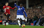 Henrik Mkhitaryan of Manchester United and Romelu Lukaku of Everton during the Premier League match at Goodison Park, Liverpool. Picture date: December 4th, 2016.Photo credit should read: Lynne Cameron/Sportimage