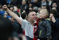 Liverpool fans in high sprits ahead of kick-off<br /> <br /> Photographer Rich Linley/CameraSport<br /> <br /> UEFA Champions League Quarter-Final Second Leg - Manchester City v Liverpool - Tuesday 10th April 2018 - The Etihad - Manchester<br />  <br /> World Copyright &copy; 2017 CameraSport. All rights reserved. 43 Linden Ave. Countesthorpe. Leicester. England. LE8 5PG - Tel: +44 (0) 116 277 4147 - admin@camerasport.com - www.camerasport.com