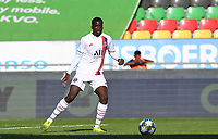 20191022 – OOSTENDE , BELGIUM : PSG's Soumaula Coulibaly pictured during a soccer game between Club Brugge KV and Paris Saint-Germain ( PSG )  on the third matchday of the UEFA Youth League – Champions League season 2019-2020 , thuesday  22 th October 2019 at the Versluys Arena in Oostende  , Belgium  .  PHOTO SPORTPIX.BE   DAVID CATRY
