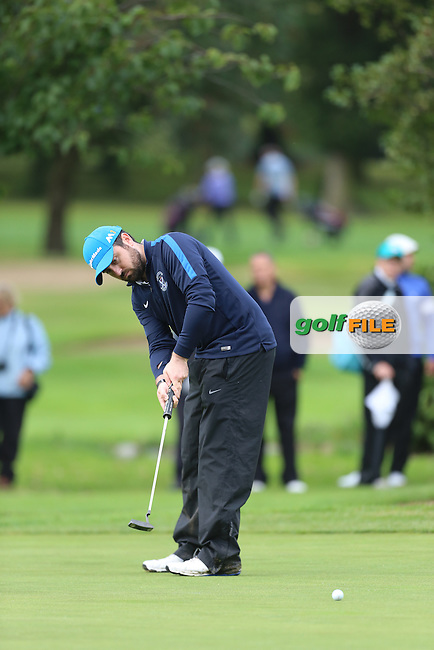 Conor Sharkey (Strabane) during the Ulster Mixed Foursomes Final, Shandon Park Golf Club, Belfast. 19/08/2016<br /> <br /> Picture Jenny Matthews / Golffile.ie<br /> <br /> All photo usage must carry mandatory copyright credit (&copy; Golffile | Jenny Matthews)