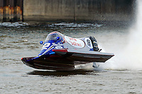 Tim Seebold's Seebold/Mercury grabs some air.    (Formula 1/F1/Champ class)