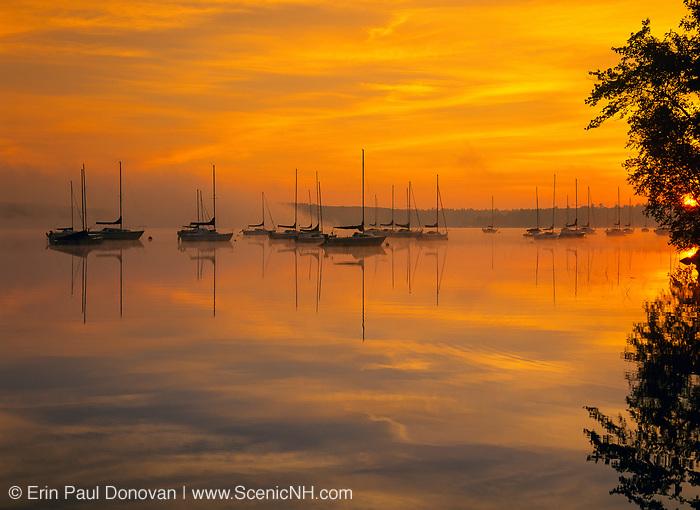 Lake Massabesic in Auburn, New Hampshire USA at sunrise.