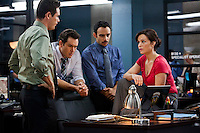 Kevin Alejandro, Mark Paul Gosselaar, Omid Abtahi and Carla Gugino in 'Hide' from TNT's Mystery Movie Night, based on Lisa Gardner's book of the same name.
