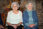 Jessie Saner of Ione, California celebrates here 100th birthday with family and friends at Castle Oaks Clubhouse, Ione, Calif...On the right is 100 year old Alice Sutton Dufrene of Ione who celebrated her 100th birthday in June 2012.