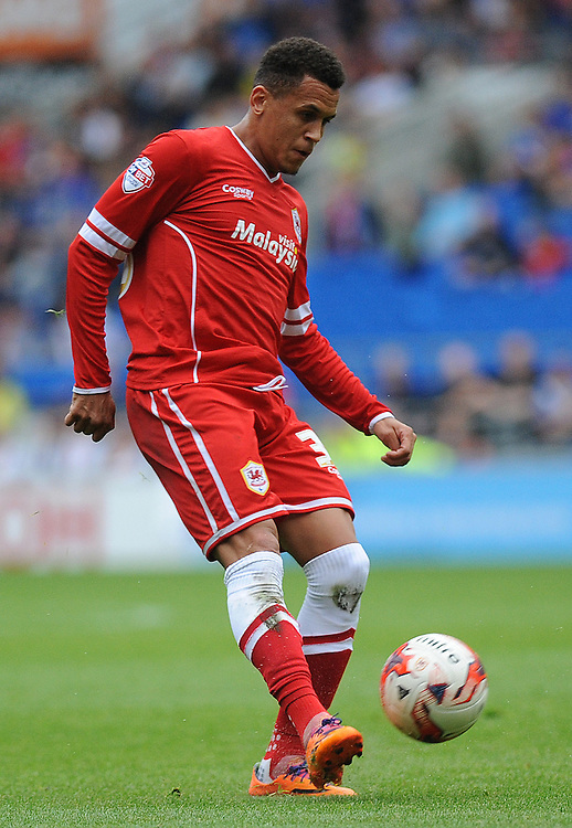 Cardiff City's Ravel Morrison in action during todays match  <br /> <br /> Photographer Ashley Crowden/CameraSport<br /> <br /> Football - The Football League Sky Bet Championship - Cardiff City v Sheffield Wednesday - Saturday 27th September 2014 - Cardiff City Stadium - Cardiff<br /> <br /> &copy; CameraSport - 43 Linden Ave. Countesthorpe. Leicester. England. LE8 5PG - Tel: +44 (0) 116 277 4147 - admin@camerasport.com - www.camerasport.com