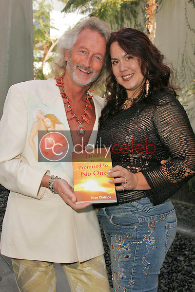 """Author and Co-Director Eros Christos wearing """"Clothing Art"""" by Conchita Amata with Jewelry Designer and Co-Star Fileena Bahris<br />at the photo call for the upcoming major motion picture """"Time Is Promised To No One"""". Private Location, Hollywood, CA. 01-21-06<br />Dave Edwards/DailyCeleb.com 818-249-4998"""