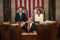 FEB 05 Trump addresses the 116th Congress as he gives his State of the Union address