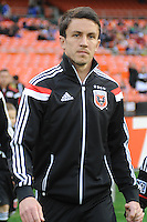 Washington, D.C.- March 29, 2014. Lewis Neal (24) of D.C. United.  D.C. United defeated the New England Revolution 2-0 during a Major League Soccer Match for the 2014 season at RFK Stadium.