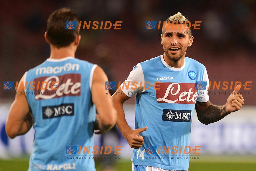 """Valon Behrami (D) Napoli.Napoli 26/9/2012 Stadio """"San Paolo"""".Football Calcio Serie A 2012/2013.Napoli Vs Lazio.Foto Andrea Staccioli Insidefoto"""