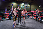 Ed Kelly VS Jordan Miller - PRO K1. Photo by: Stephen Smith<br /> <br /> Warrior Fight Nights 6 - Sunday 22nd March 2015. The Littledown Centre, Bournemouth, Dorset, United Kingdom.