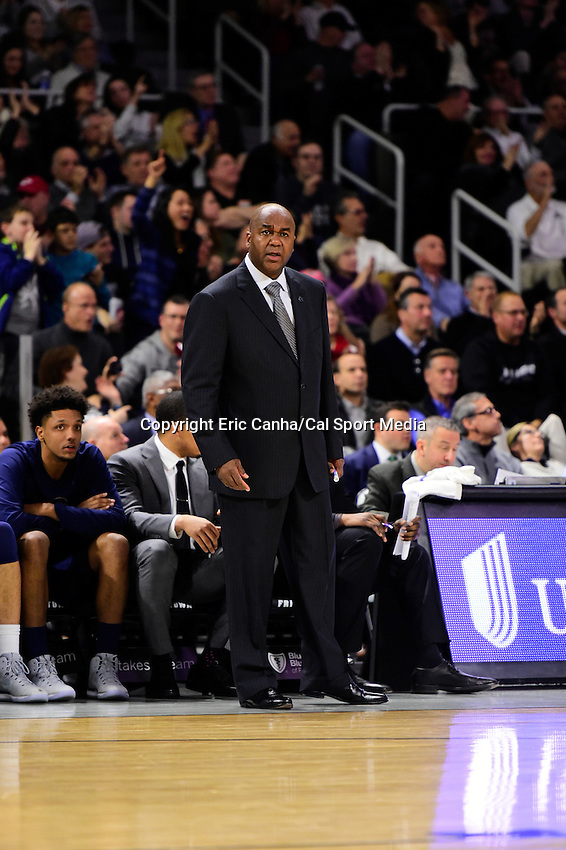 Wednesday, January 4, 2016: Georgetown Hoyas head coach John Thompson III watches game action during the NCAA basketball game between the Georgetown Hoyas and the Providence Friars held at the Dunkin Donuts Center, in Providence, Rhode Island. Providence defeats Georgetown 76-70 in regulation time. Eric Canha/CSM