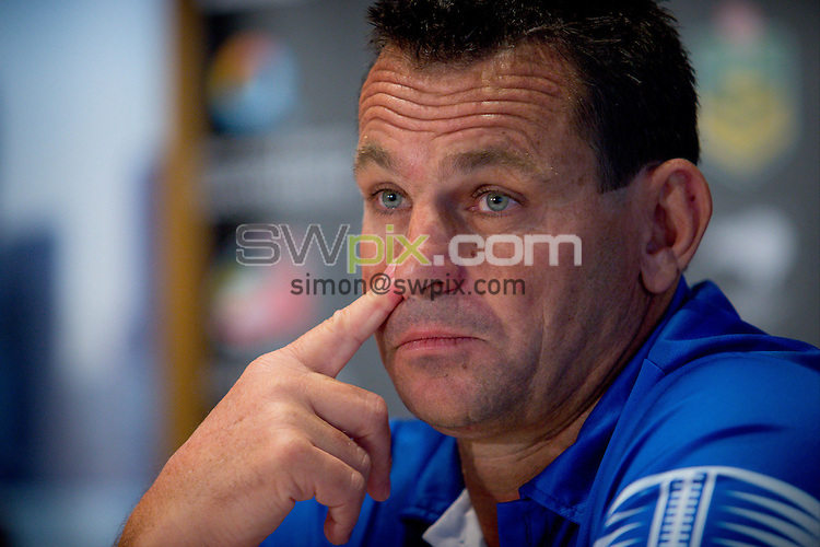 Picture by Patrick Hamilton/ www.photosport.co.nz/SWpix.com - Samoa coach Matt Parish during a preview 4 Nations press conference, Brisbane Australia on October 24, 2014.