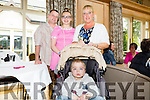 Alannah Collins,David Collins, Louise Collins and Daniel Collins enjoying the Kerry Branch of Spina Bifida ireland Family Fun Day at Ballygarry House on Sunday