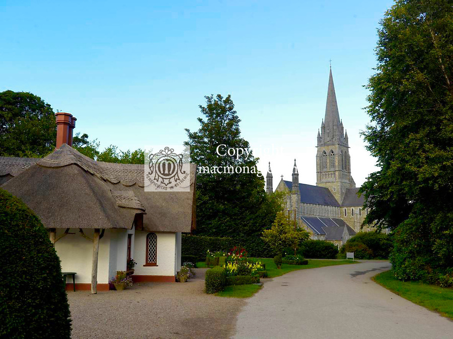 Deenagh Cottage and St Mary's Cathedral, two famed landmarks in Killarney town centre this weekend ahead of the Tidy Town Awards..Picture by Don MacMonagle