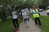 Residents demonstrated Thursday afternoon to protest the closing of Dyett High School.