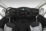 Stock photo of straight dashboard view of a 2015 Ram Promater 1500 118 Wb  4 Door Cargo Van
