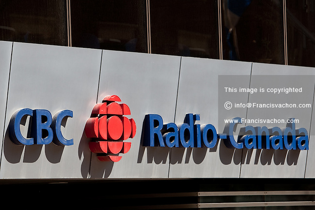 CBC / Radio-Canada logo is seen on the Rue St-Jean studio in Quebec city May 4, 2009.