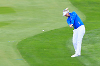 Anna Nordqvist (EUR) on the 1st fairway during Day 3 Singles at the Solheim Cup 2019, Gleneagles Golf CLub, Auchterarder, Perthshire, Scotland. 15/09/2019.<br /> Picture Thos Caffrey / Golffile.ie<br /> <br /> All photo usage must carry mandatory copyright credit (© Golffile | Thos Caffrey)