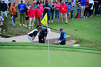 Bob Estes (USA) talks to a rules official before chipping on to 18 during round 3 of the Valero Texas Open, AT&amp;T Oaks Course, TPC San Antonio, San Antonio, Texas, USA. 4/22/2017.<br /> Picture: Golffile | Ken Murray<br /> <br /> <br /> All photo usage must carry mandatory copyright credit (&copy; Golffile | Ken Murray)
