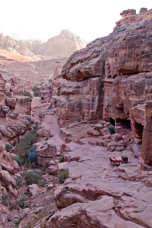 The Petra Valley opens out from the Wadi ad-Deir, at the back of the Nabatean capital city.  © Rick Collier