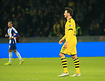 30.11.2019, OLympiastadion, Berlin, GER, DFL, 1.FBL, Hertha BSC VS. Borussia Dortmund, <br /> DFL  regulations prohibit any use of photographs as image sequences and/or quasi-video<br /> im Bild  gelb-rote KarteMats Hummels (Borussia Dortmund #15)<br /> <br />       <br /> Foto © nordphoto / Engler