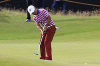 Yusaku Miyazato (JPN) putts on the 14th green during Thursday's Round 1 of the 145th Open Championship held at Royal Troon Golf Club, Troon, Ayreshire, Scotland. 14th July 2016.<br /> Picture: Eoin Clarke | Golffile<br /> <br /> <br /> All photos usage must carry mandatory copyright credit (&copy; Golffile | Eoin Clarke)