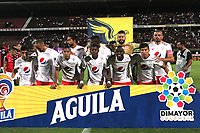CÚCUTA- COLOMBIA, 25-10-2019:Formación del América de Cali.Acción de juego entre los equipos Cúcuta Deportivo  y el  América de Cali  durante partido por la fecha 19 de la Liga Águila II  2019 jugado en el estadio General Santander de la ciudad de Cúcuta . / Team of America de Cali.Action game between teams   Cucuta Deportivo and  America de Cali during the match for the date 19 of the Liga Aguila II 2019 played at the General Santander  stadium in Cucuta  city. Photo: VizzorImage / Manuel Hernández  / Contribuidor