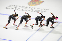 SPEEDSKATING: CALGARY: Olympic Oval, 30-11-2017, ISU World Cup training, Team China, ©photo Martin de Jong