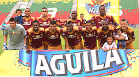 IBAGUE -COLOMBIA-17-ABRIL-2016.Formación del Tolima   contra Andrés  La Equidad  durante partido por la fecha 13 de Liga Águila I 2016 jugado en el estadio Manuel Murillo Toro de Ibagué./ Team of Tolima against  of La Equidad during the match for the date 13 of the Aguila League I 2016 played atManuel Murillo Toro stadium in Ibague. Photo: VizzorImage / Juan Carlos Escobar / Contribuidor