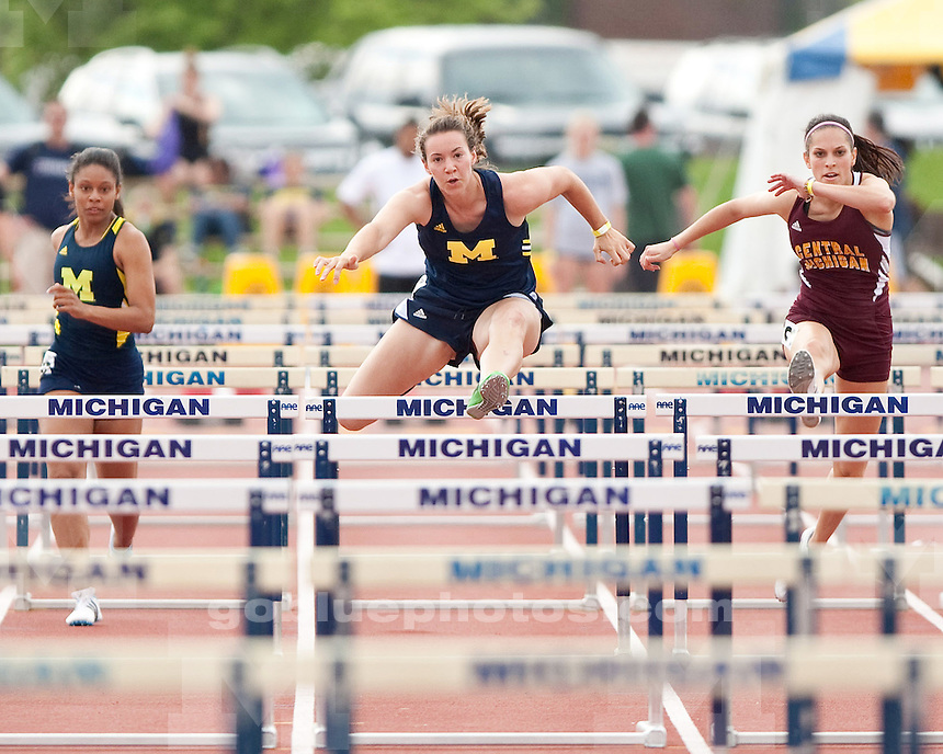 The University of Michigan women's track and field team competes in the Len Paddock Invitational (non-scoring) at Ferry Field  in Ann Arbor, Mich., on Saturday, May 4, 2012.