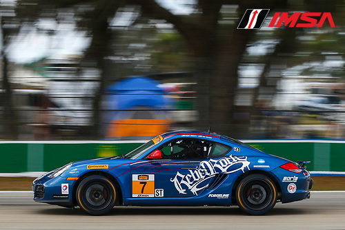 16-18 March, 2016, Sebring, Florida, USA<br /> 7, Porsche, Cayman GT4, ST, Sam Adams, Ian James<br /> &copy;2016, Jake Galstad<br /> LAT Photo USA