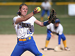 Wildcats' Dakota Robinson pitches against Colorado Northwestern during a college softball game at Edmonds Sports Complex Carson City, Nev., on Friday, April 17, 2015. WNC won both games 8-0, 11-3.<br /> Photo by Cathleen Allison/Nevada Photo Source