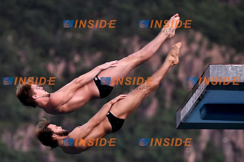 GISMERVIK Amund, VALHEIM Espen NOR <br /> Synchronized Platform Men Final - Sincro Piattaforma Uomini Finale <br /> Bolzano 01-08-2014 <br /> 20 Fina Diving Grand Prix <br /> Photo Andrea Staccioli/Insidefoto