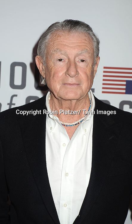 """Joel Schumacher attends the Premiere of """"House of Cards"""" on January 30, 2013 at Alice Tully Hall at Lincoln Center in New York City. The movie is available to watch on Netflix on February 1, 2013. The show stars Kevin Spacey, Kate Mara, Robin Wright, Michael Kelly, Corey Stoll, Kristen Connoly, Sakina Jaffrey, Constance Zimmer and  Sandrine Holt."""