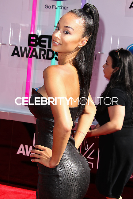LOS ANGELES, CA, USA - JUNE 29: Draya Michele arrives at the 2014 BET Awards held at Nokia Theatre L.A. Live on June 29, 2014 in Los Angeles, California, United States. (Photo by Xavier Collin/Celebrity Monitor)