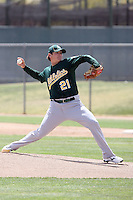 Josh Lansford, Oakland Athletics 2010 minor league spring training..Photo by:  Bill Mitchell/Four Seam Images.