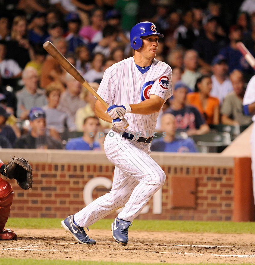TYLER COLVIN, of the  Chicago Cubs, in action during the Cubs  game against the  Philadelphia Phillies  in Chicago, IL on July 18, 2010.  The Cubs won the game 11-6.