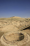 Israel, Negev. Canaanite city water reservoir with well from Israelite period in Tel Arad