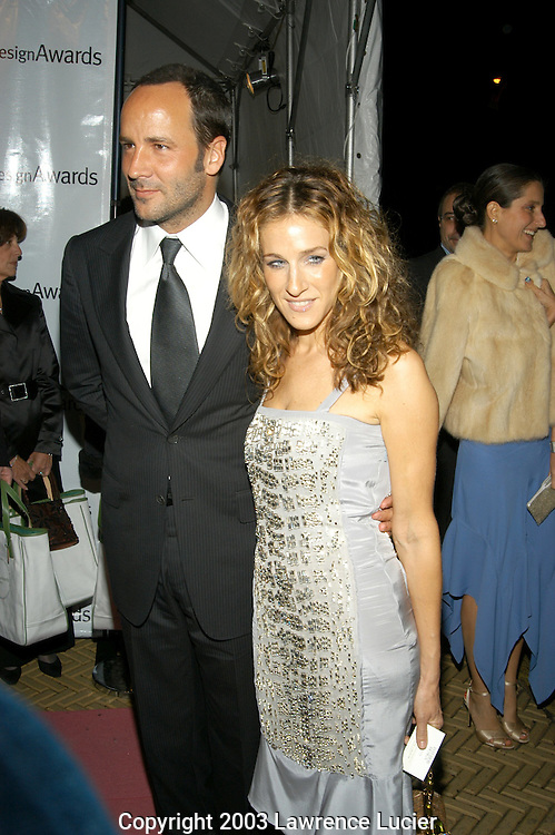 Tom Ford and Sarah Jessica Parker in a dress by Gucci