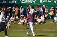 Justin Walters (RSA) and Oliver Fisher (ENG)18th hole during Round 3 of the Portugal Masters, Dom Pedro Victoria Golf Course, Vilamoura, Vilamoura, Portugal. 26/10/2019<br /> Picture Andy Crook / Golffile.ie<br /> <br /> All photo usage must carry mandatory copyright credit (© Golffile   Andy Crook)