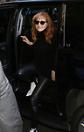 Patti Scialfa arrives at the Walter Kerr Theater for the official opening night  performance of 'Springsteen On Broadway' on October 12, 2017 in New York City.