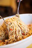 ITALY, Venice. A seafood Pasta dish at Busa alla Torre Da Lele restaurant located on the island of Murano.