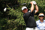 Darren Clarke (NIR) teeing off on the 2nd tee on day 1of the World Golf Championship Bridgestone Invitational, from Firestone Country Club, Akron, Ohio. 4/8/11.Picture Fran Caffrey www.golffile.ie