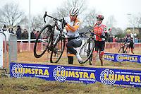 WIELRENNEN: SURHUISTERVEEN: 02-01-2016, Centrumcross, Anouska Koster (Zwaagwesteinde), ©foto Martin de Jong