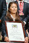Homare Sawa (Leonessa), November 13, 2012 - Football / Soccer : Plenus Nadeshiko LEAGUE 2012 Award ceremony in Tokyo, Japan. (Photo by Yusuke Nakanishi/AFLO SPORT).