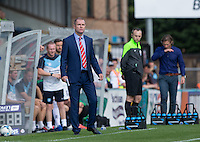York City Manager Russ Wilcox during the Sky Bet League 2 match between Wycombe Wanderers and York City at Adams Park, High Wycombe, England on 8 August 2015. Photo by Andy Rowland.