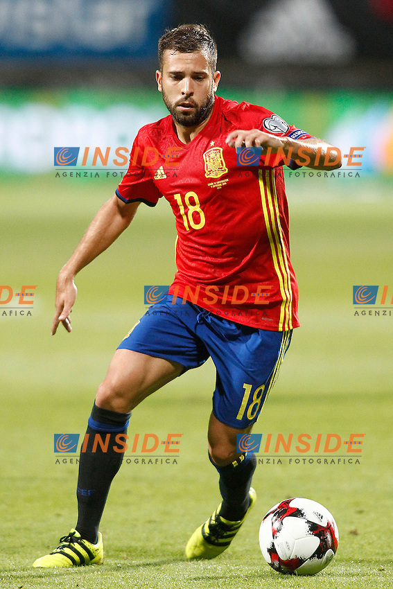 Spain's Jordi Alba during FIFA World Cup 2018 Qualifying Round match. September 5,2016.(ALTERPHOTOS/Acero)<br /> Spagna - Liechtenstein <br /> Foto Insidefoto <br /> ITALY ONLY