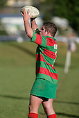 G. Henson prepares to throw to a lineout. Counties Manukau Premier Club Rugby, Pukekohe v Waiuku  played at the Colin Lawrie field, on the 3rd of 2006.Pukekohe won 36 - 14