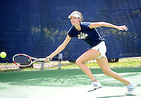 Florida International University tennis player Sarah McLean plays against the University of Pennsylvania.  FIU won the match 4-3 on March 9, 2012 at Miami, Florida. .